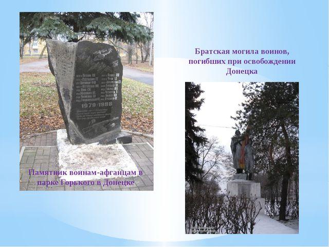 Памятник воинам-афганцам в парке Горького в Донецке Братская могила воинов, п...