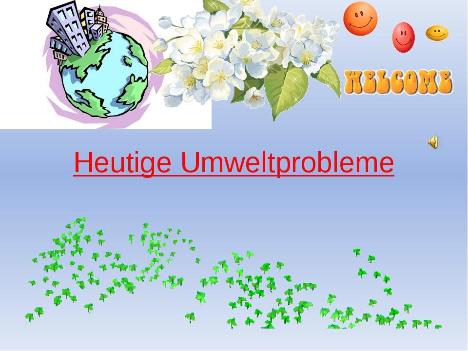 Heutige Umweltprobleme