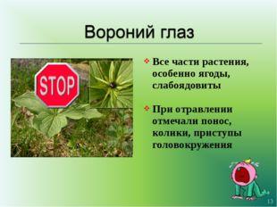 Все части растения, особенно ягоды, слабоядовиты При отравлении отмечали поно