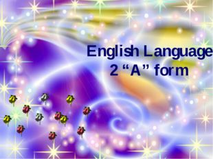"English Language 2 ""A"" form"
