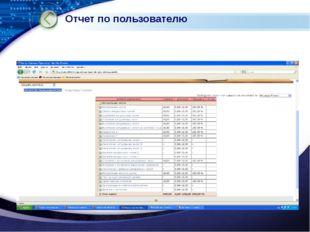 Отчет по пользователю