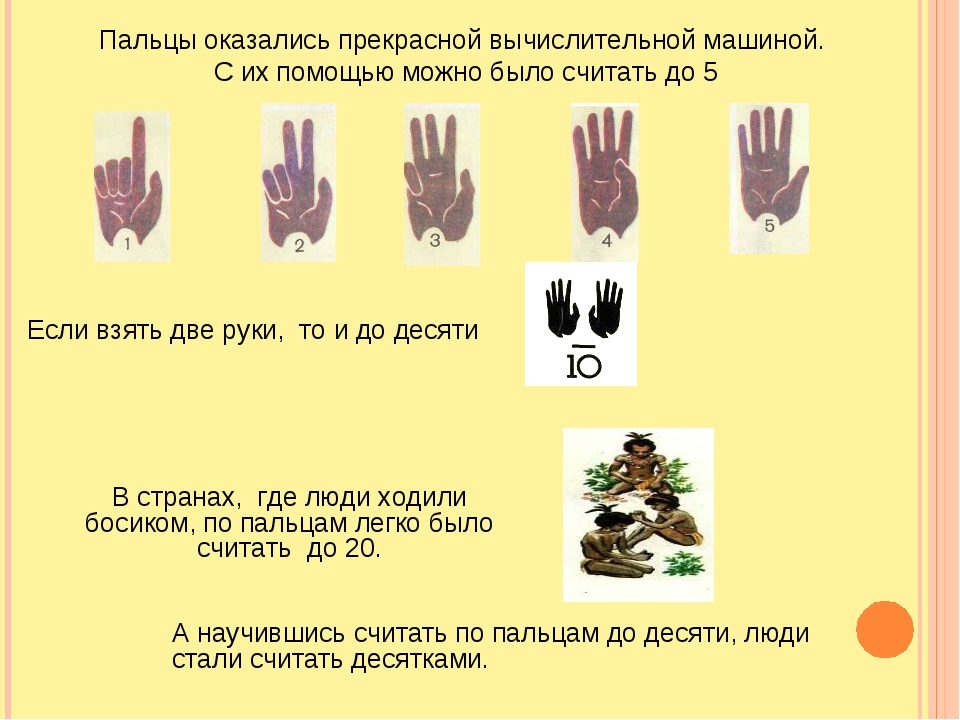 А научившись считать по пальцам до десяти, люди стали считать десятками. Паль...