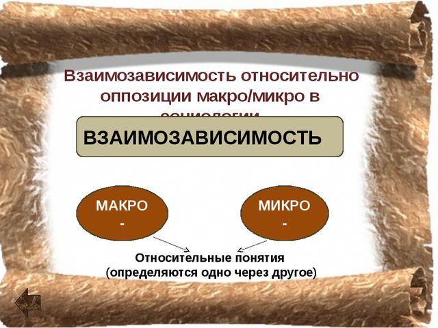 Понятие взаимозависимость относительно целого и частей Понятие взаимозависим...