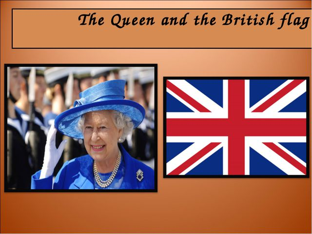 The Queen and the British flag