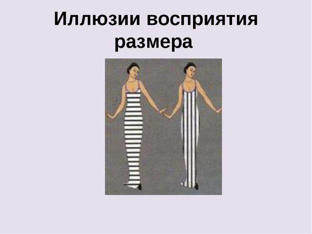 Иллюзии восприятия размера