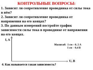 Масштаб: 1 см – 0, 2 А 1 см - 0,4 В 4. Как называется такая зависимость? КОН