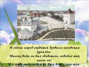 И сейчас народ гордится древним низовским кремлём- Многих войн он был свидете