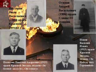 Нестеров Иван Васильевич (1903) орден Красной Звезды Палютин Николай Андрееви