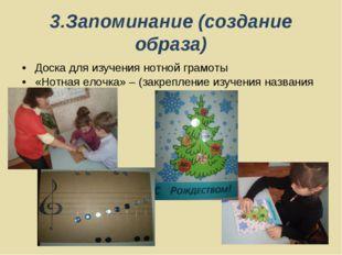 3.Запоминание (создание образа) Доска для изучения нотной грамоты «Нотная ело