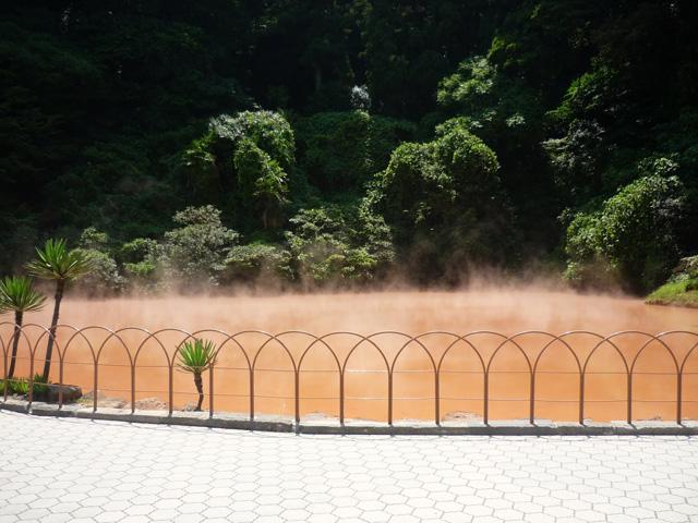 Кровавый пруд в Японии