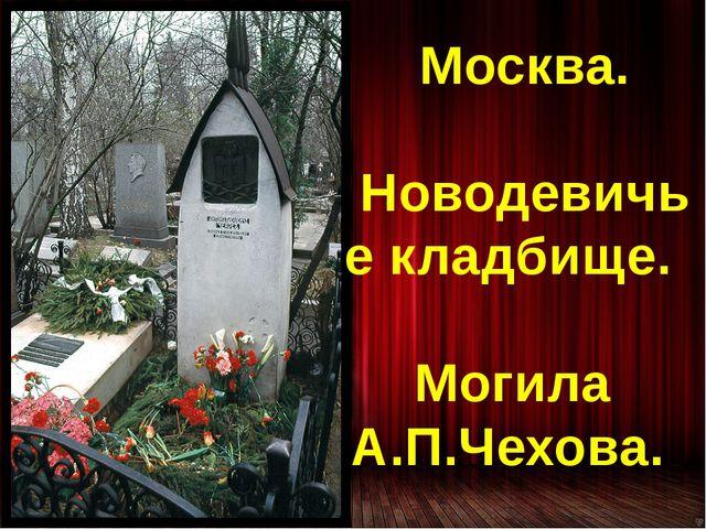 Москва. Новодевичье кладбище. Могила А.П.Чехова.