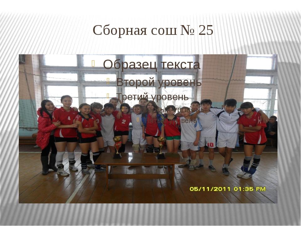 Сборная сош № 25