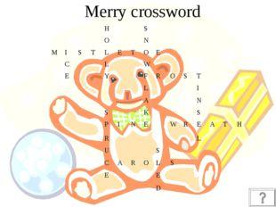 Merry crossword HS ON MISTLETOE C
