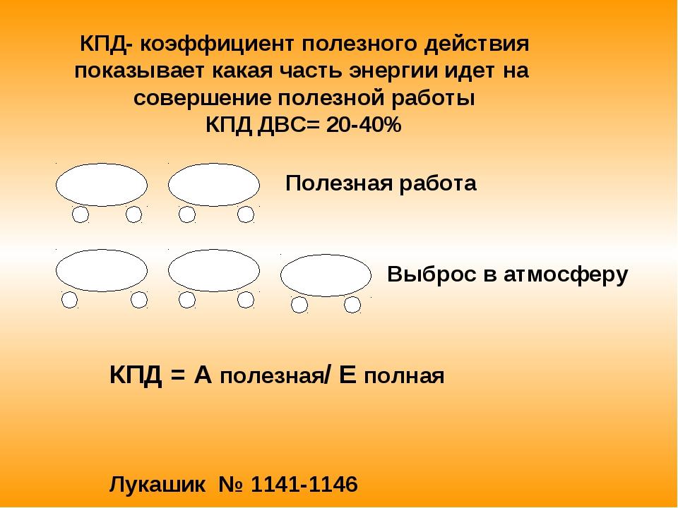 КПД- коэффициент полезного действия показывает какая часть энергии идет на со...