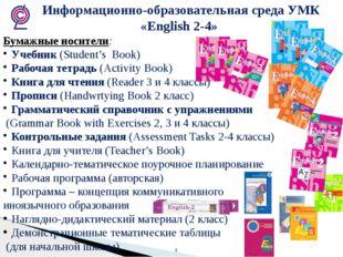 Информационно-образовательная среда УМК «English 2-4» Бумажные носители: Уче