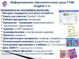 Информационно-образовательная среда УМК «English 2-5» Компоненты на электрон