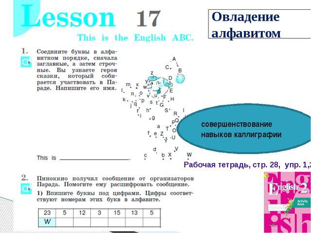 Овладение алфавитом совершенствование навыков каллиграфии Рабочая тетрадь, ст...
