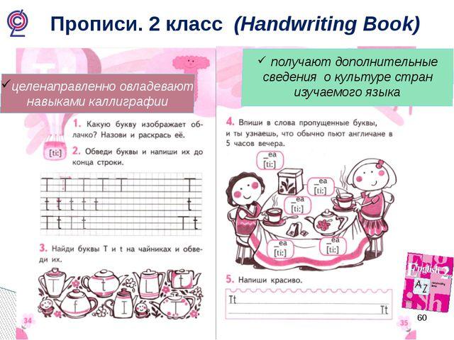 Прописи. 2 класс (Handwriting Book) получают дополнительные сведения о культ...