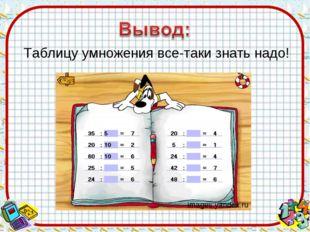 Таблицу умножения все-таки знать надо! images.yandex.ru