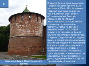 Кладовая башня Нижегородского кремля 11 Кладовая башня, она и по возрасту - в