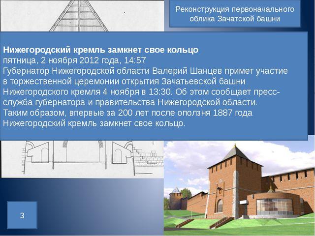 Реконструкция первоначального облика Зачатской башни 3 Нижегородский кремль з...