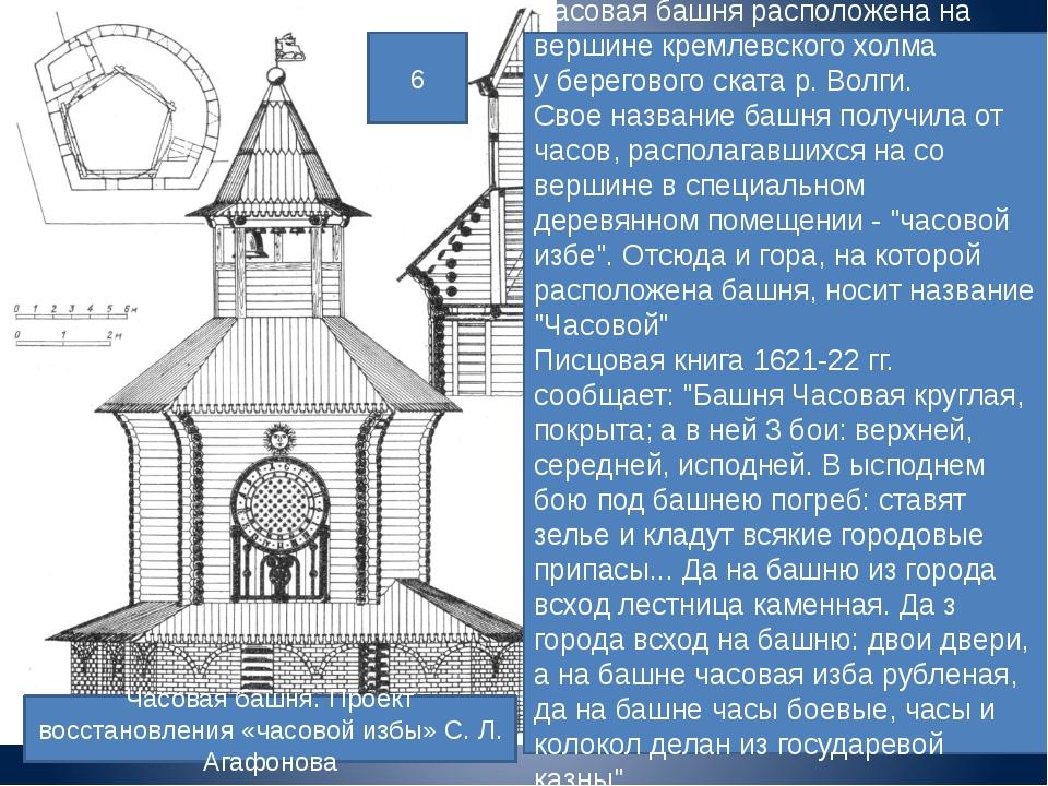 Часовая башня. Проект восстановления «часовой избы» С. Л. Агафонова Часовая б...