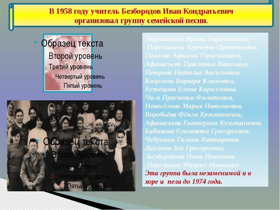 Тюрюханова Ирина Парамоновна Перелыгина Агрепена Прокопьевна, Павлова Афимия...