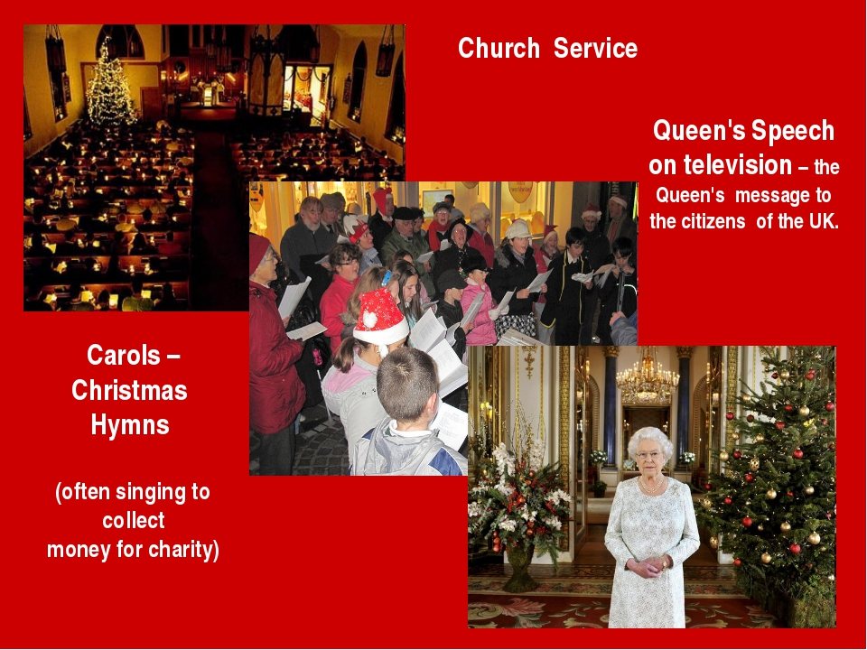 Church Service Carols – Christmas Hymns (often singing to collect money for c...