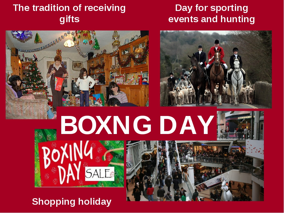 Shopping holiday Day for sporting events and hunting The tradition of receivi...