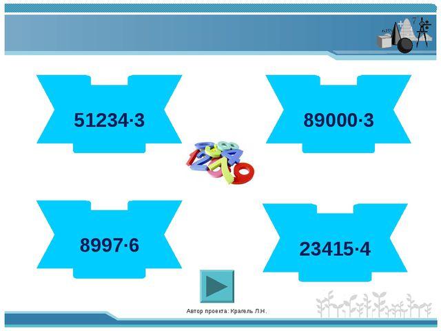 Автор проекта: Крагель Л.Н. 153702 51234·3 93660 23415·4 267000 89000·3 53982...