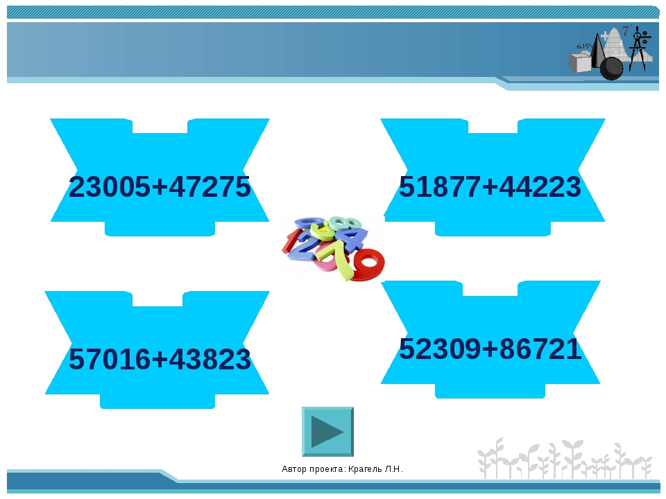 Автор проекта: Крагель Л.Н. 70280 23005+47275 96100 51877+44223 100839 57016+...