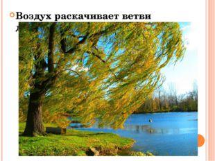 Воздух раскачивает ветви деревьев…