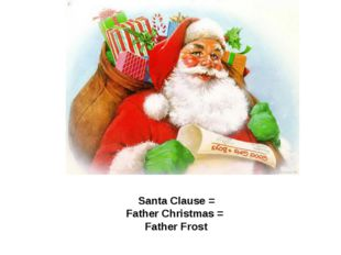 Santa Clause = Father Christmas = Father Frost