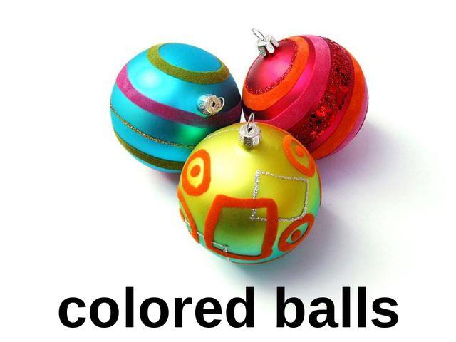 colored balls