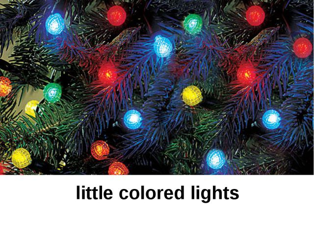 little colored lights