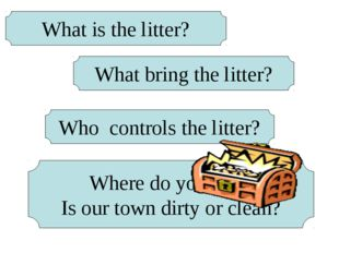 What is the litter? What bring the litter? Who controls the litter? Where do