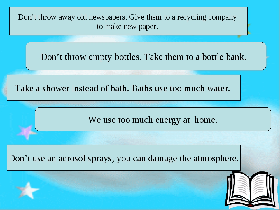Don't throw away old newspapers. Give them to a recycling company to make new...