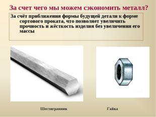 За счет чего мы можем сэкономить металл? За счёт приближения формы будущей де