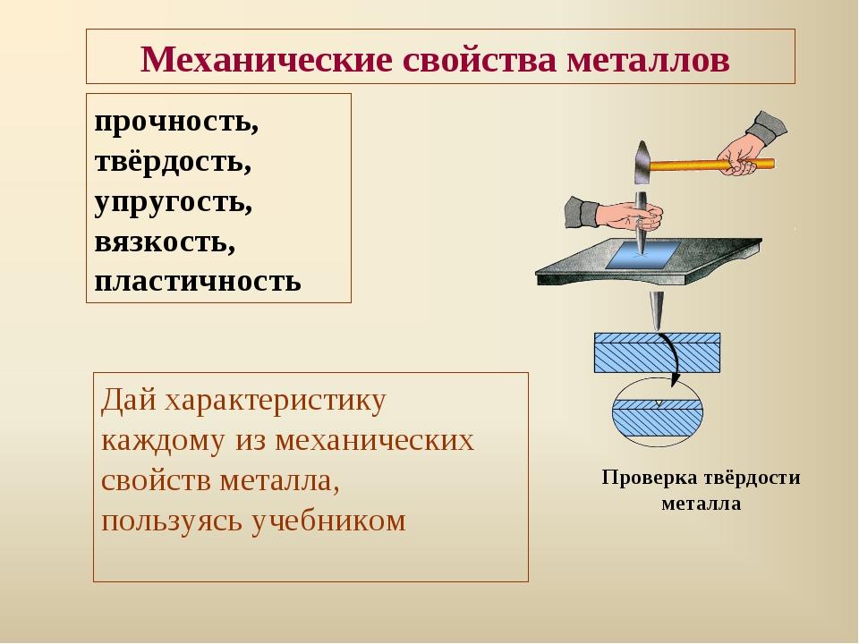Механические свойства металлов прочность, твёрдость, упругость, вязкость, пла...