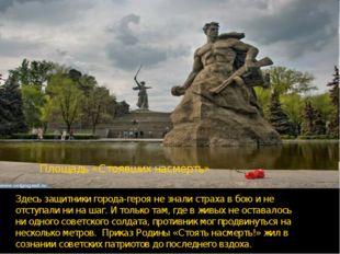 Здесь защитники города-героя не знали страха в бою и не отступали ни на шаг.