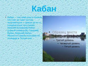 Кабан Кабан — система озер в Казани. Состоит из трех частей, протяжённых с се