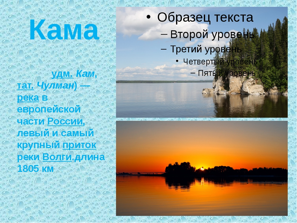 Кама Ка́ма (удм. Кам, тат. Чулман) — река в европейской части России, левый и...