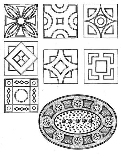 Цветники разной геометрической формы