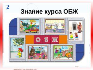Знание курса ОБЖ 2 Матюшкина А.В. http://nsportal.ru/user/33485