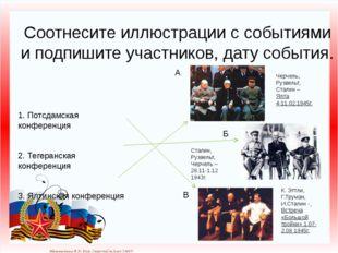 Соотнесите иллюстрации с событиями и подпишите участников, дату события. 1. П