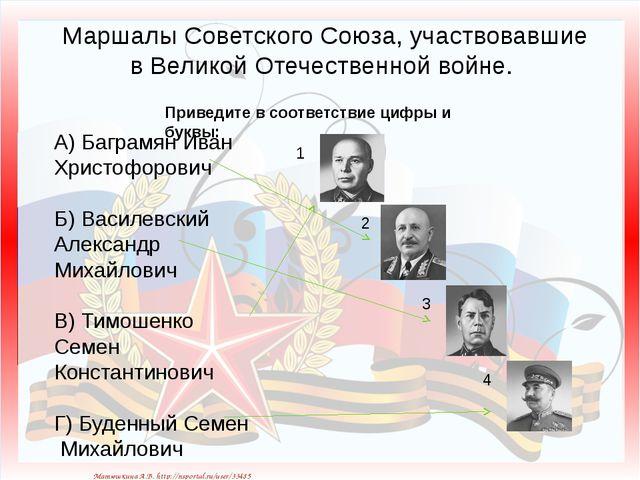 Маршалы Советского Союза, участвовавшие в Великой Отечественной войне. Приве...