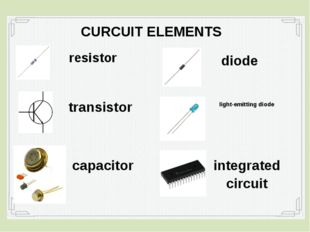 resistor CURCUIT ELEMENTS transistor capacitor diode light-emitting diode int