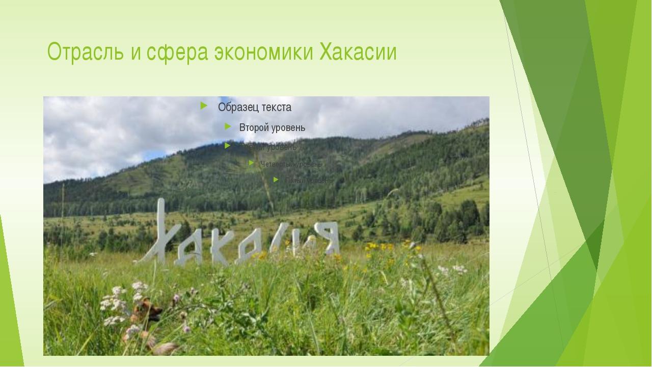 Отрасль и сфера экономики Хакасии