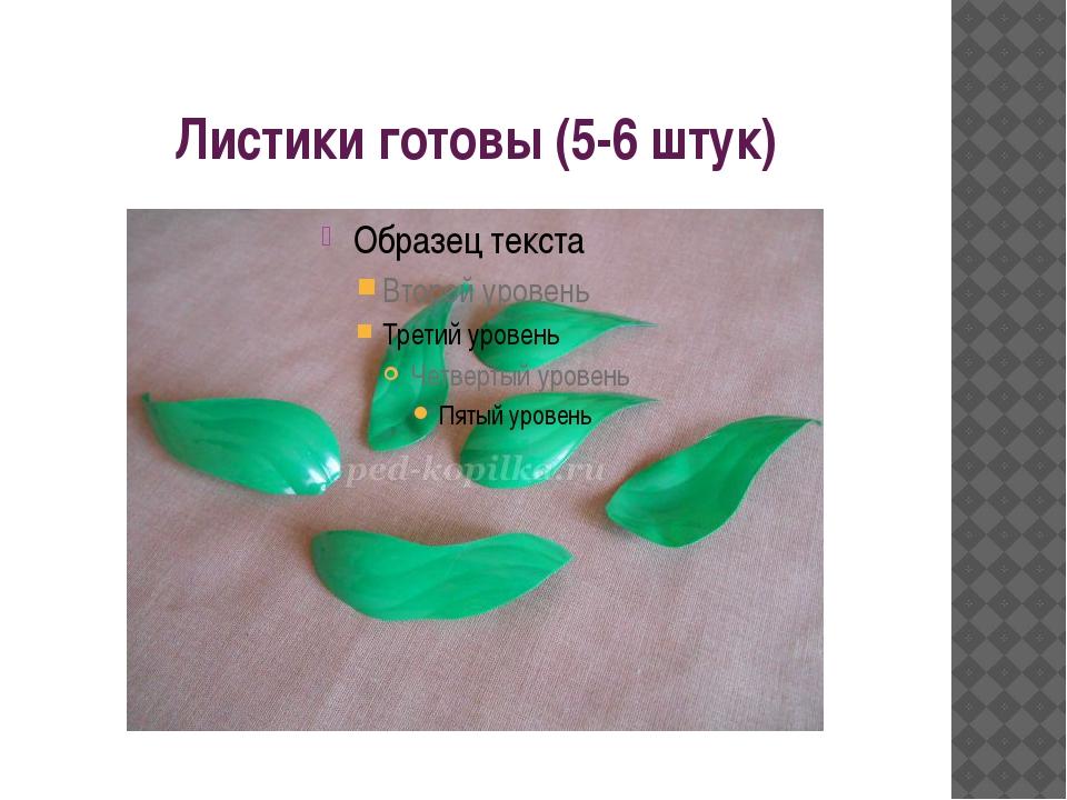 Листики готовы (5-6 штук)