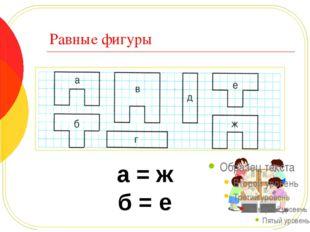 Существуют разные способы определения равных фигур 1. Наложение одной фигуры